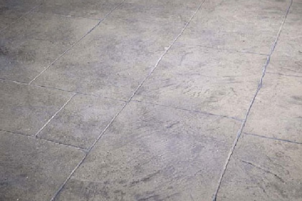 Sandblasted and stenciled concrete