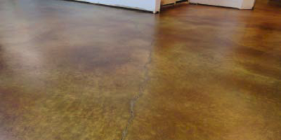 Stained concrete floor that was achieved with reactive stains.