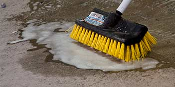 Preparing concrete correctly before applying a coating helps to ensure the coating's success.