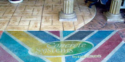 Chemical or acid-based reactive stains color concrete by a very different mechanism. The acid catalyzes a chemical reaction with the lime in the concrete, creating a variegated, dappled effect. Pigments in the stain impart color. Colors of reactive stains are similar to colors that occur naturally in stone, so the palette is somewhat limited.