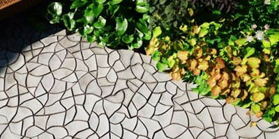 Custom Concrete Tile with Cracked Earth Pattern Debuts in London